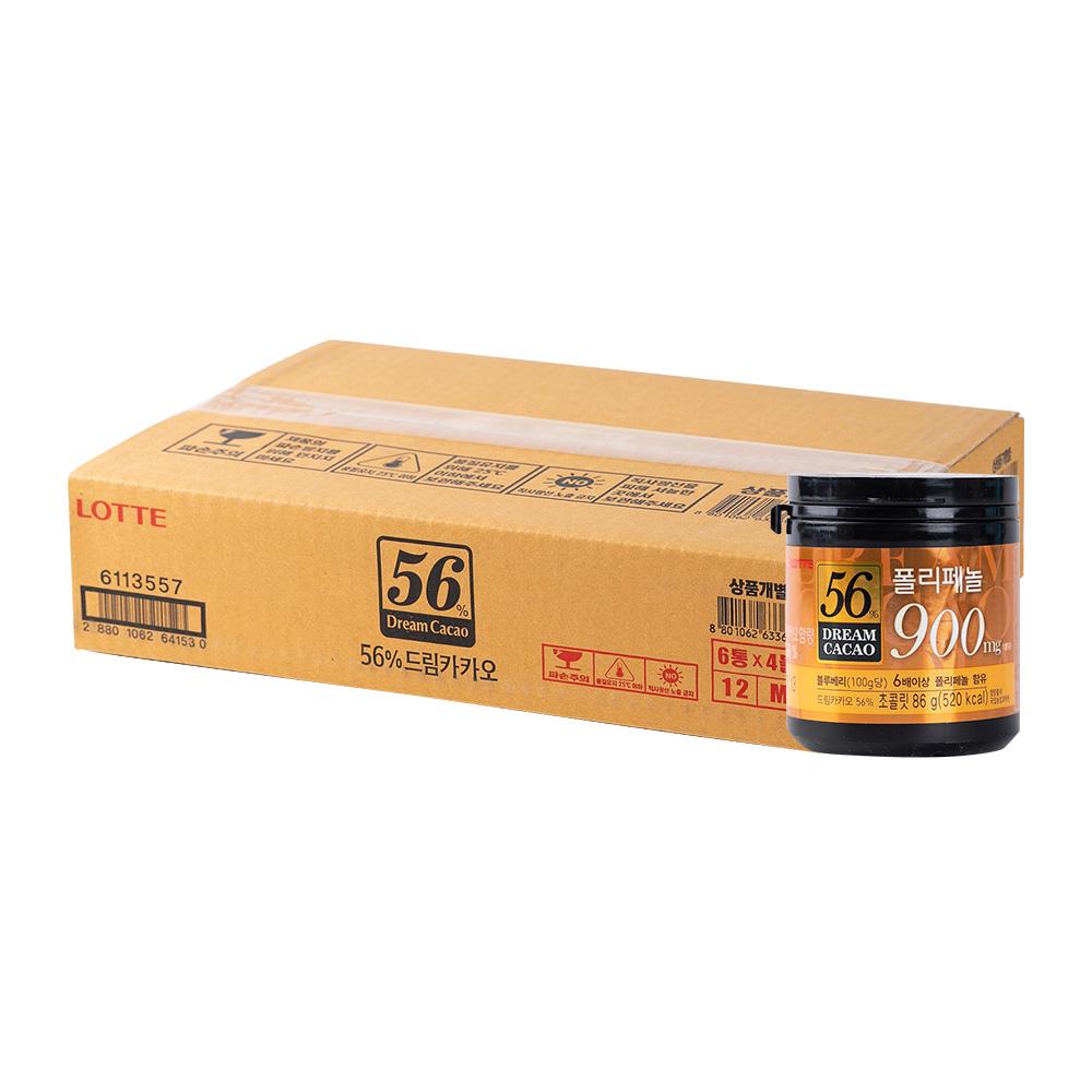 롯데 드림카카오56프로86g(24개)이식사