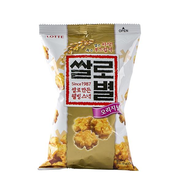 롯데 쌀로별 오리지널78g이식사