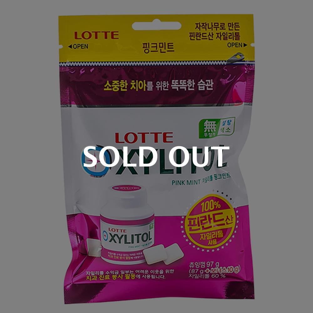롯데 자일리톨핑크민트87+10g이식사