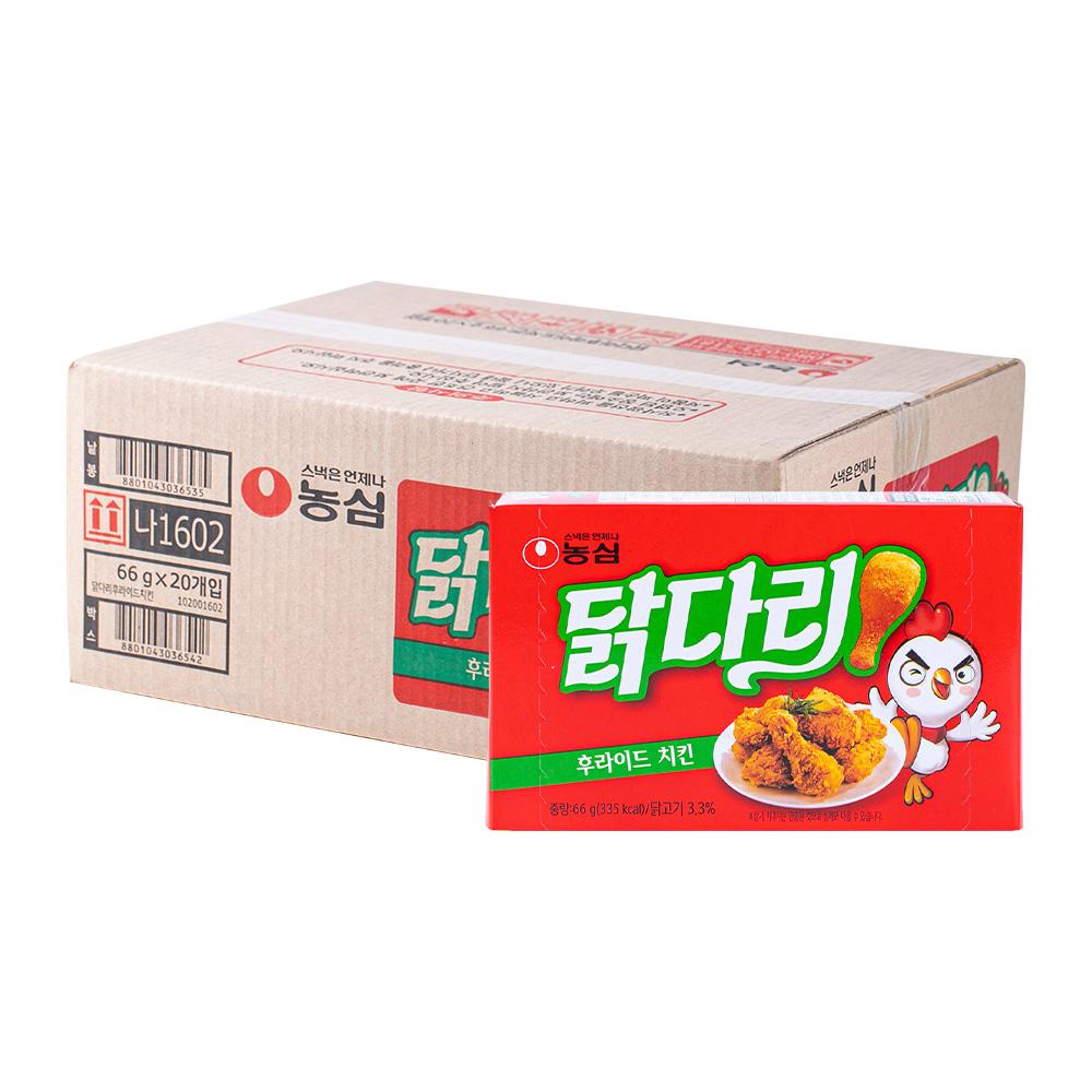 농심 닭다리후라이드66g(20개)이식사