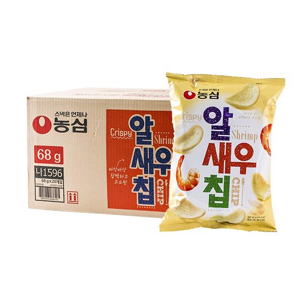 농심 알새우칩 68g 20입이식사