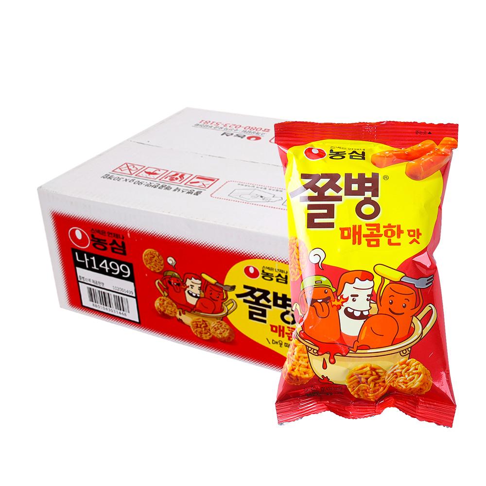 농심 쫄병스낵 매콤한맛90g(30개)이식사