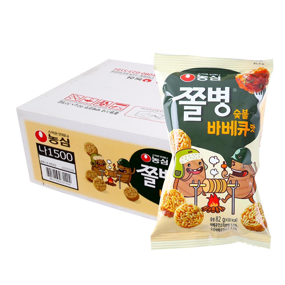 농심 쫄병스낵 바베큐90g(30개)이식사