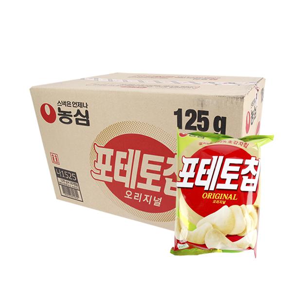농심 칩포테토 오리지널125g(16개)이식사