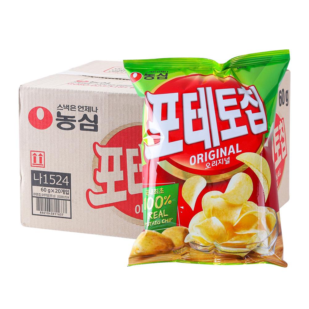 농심 칩포테토 오리지널60g(20개)이식사