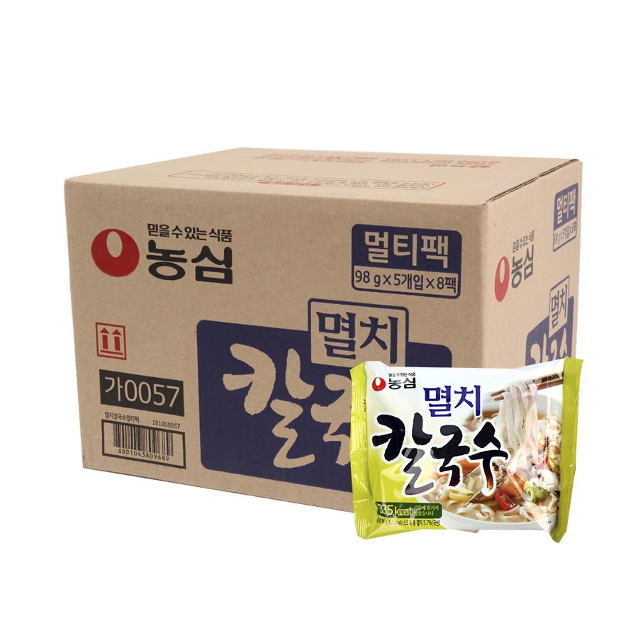 농심 멸치칼국수98g(40개)이식사