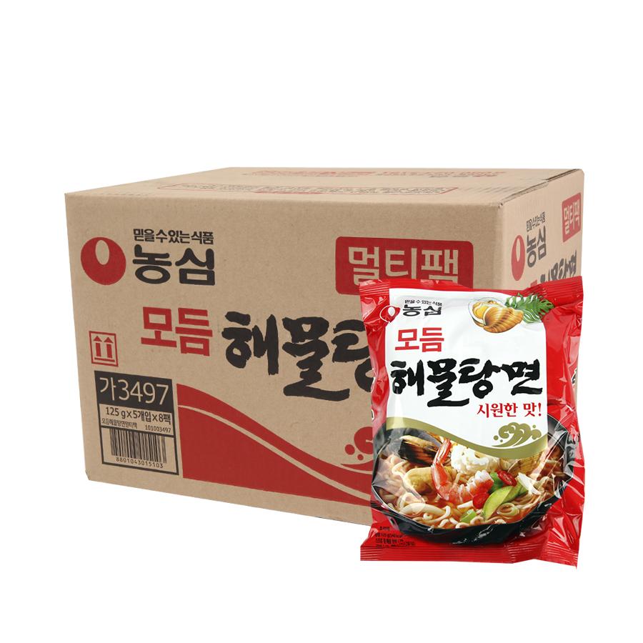 농심 모듬해물탕면125g(40개)이식사