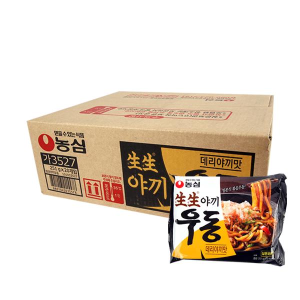 농심 생생우동 데리야끼맛251g(20개)이식사