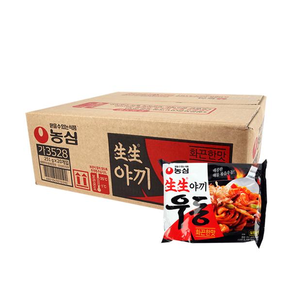 농심 생생우동 화끈한맛251g(20개)이식사