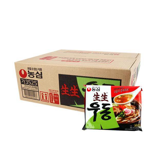농심 생생우동253g(20개)이식사