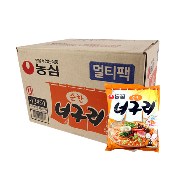 농심 순한너구리120g(40개)이식사