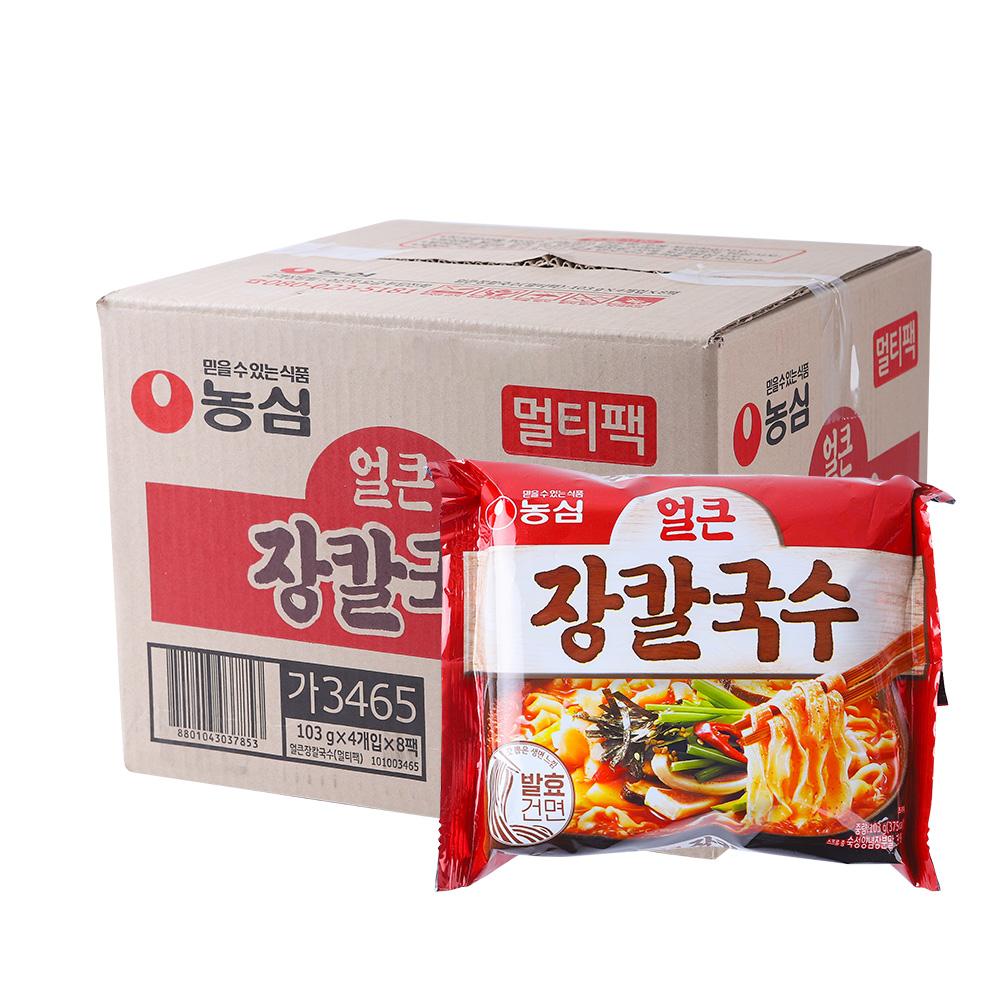 농심 얼큰장칼국수103g(32개)이식사