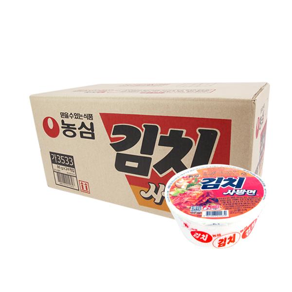 농심 김치사발면86g(24개)이식사