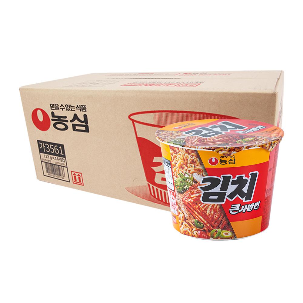 농심 김치큰사발112g(16개)이식사