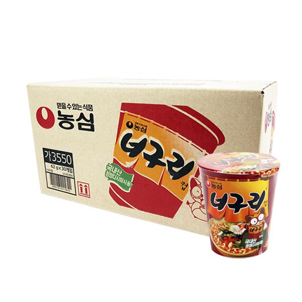 농심 너구리소컵62g(30개)이식사