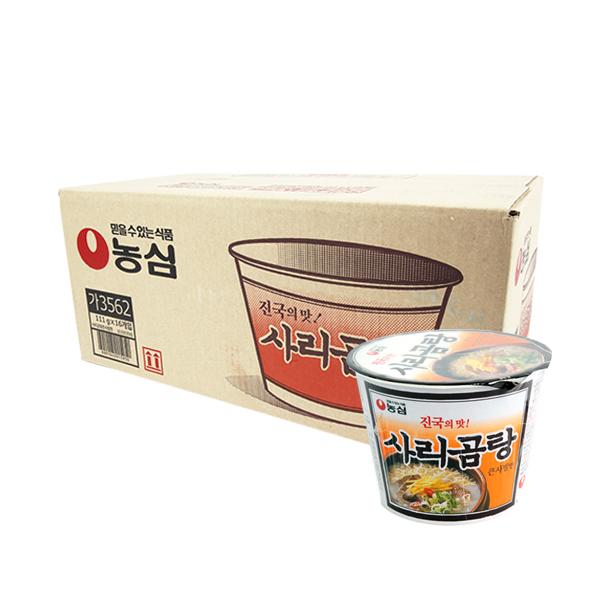농심 사리곰탕 큰사발111g(16개)이식사