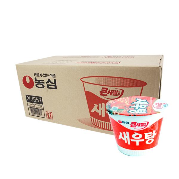농심 새우탕 큰사발115g(16개)이식사