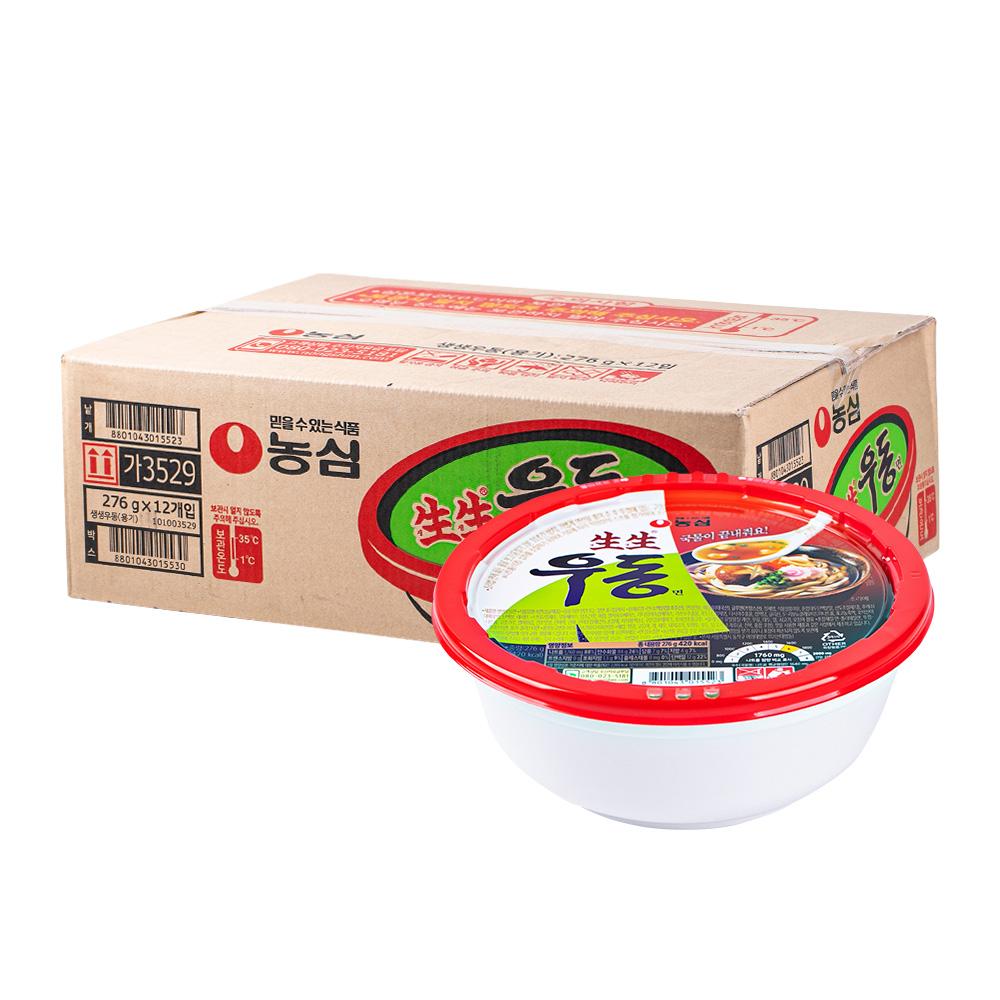 농심 생생우동용기276g(12개)이식사
