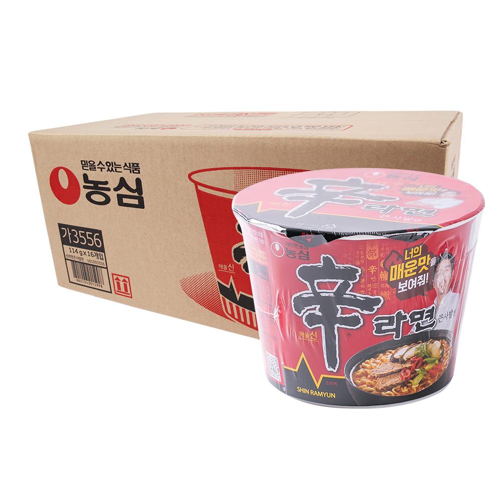 농심 신라면큰컵114g(16개)이식사