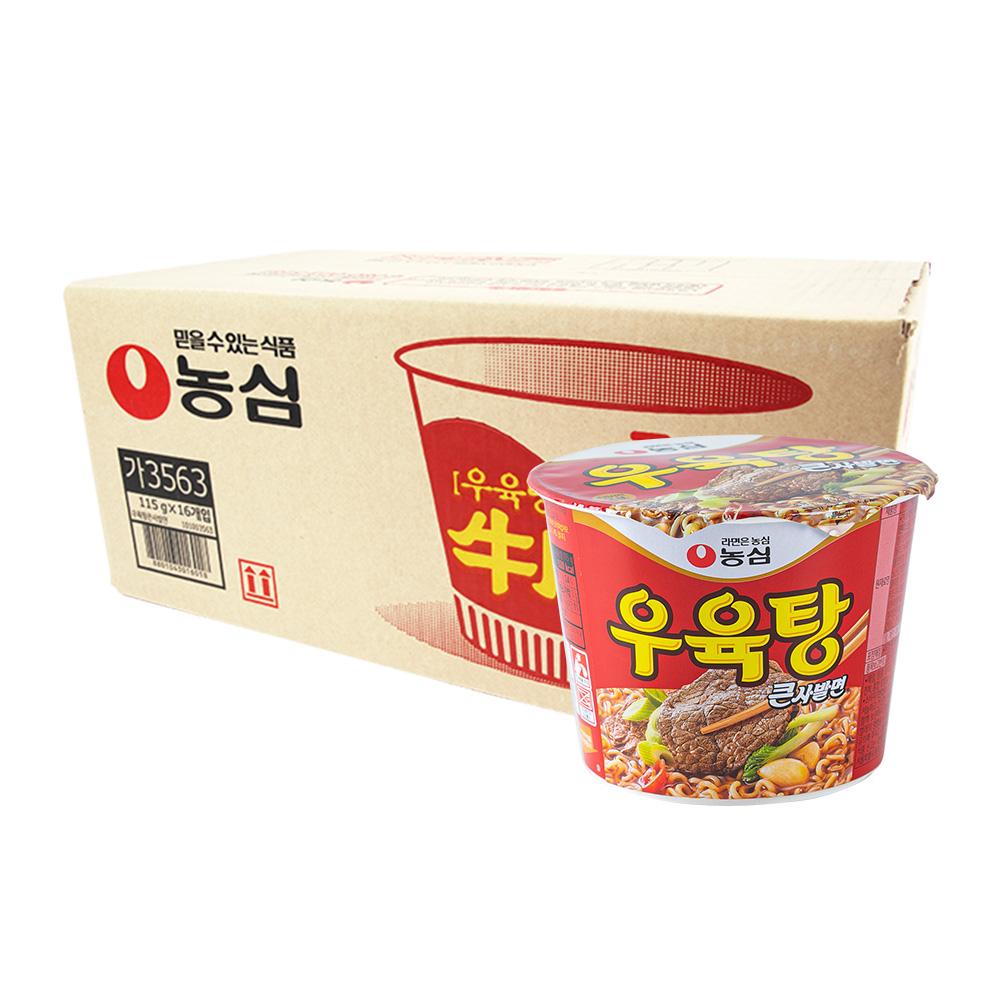농심 우육탕큰컵115g(16개)이식사