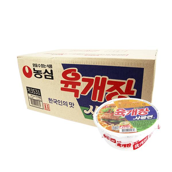 농심 육개장사발면86g(24개)이식사