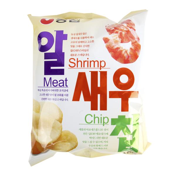 농심 알새우칩130g이식사