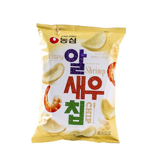 농심 알새우칩 68g이식사