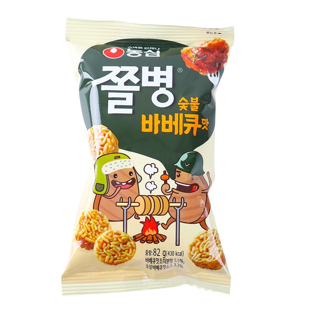 농심 쫄병스낵 바베큐90g이식사