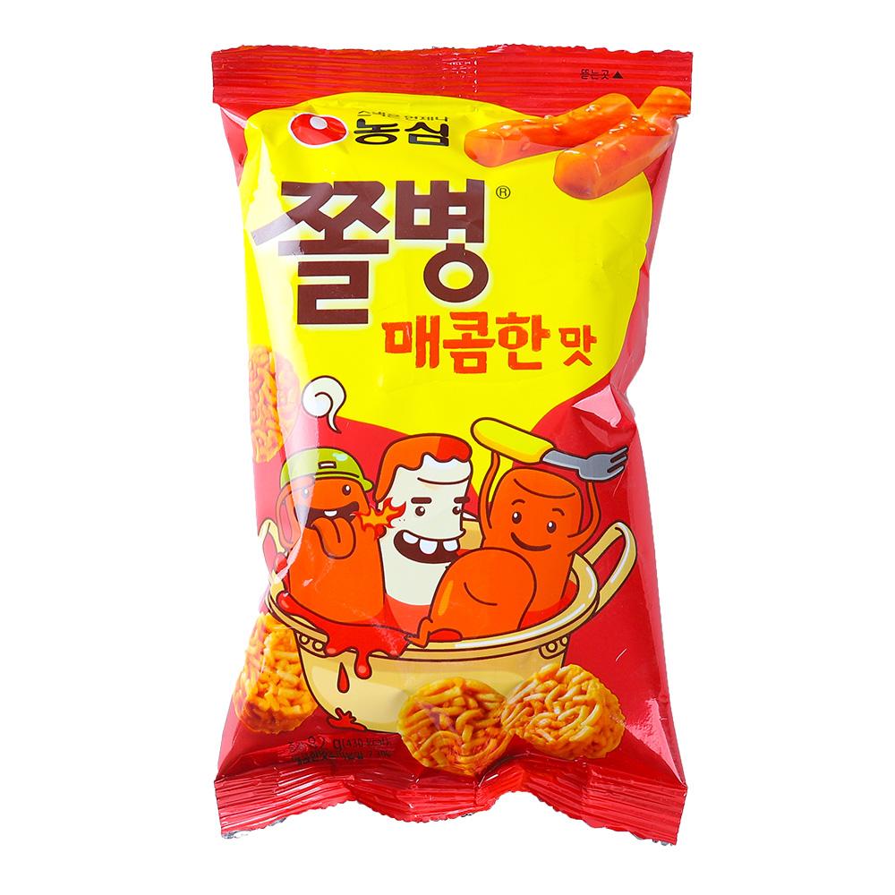농심 쫄병스낵 매콤한맛90g이식사