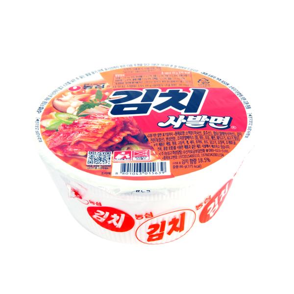 농심 김치사발면86g이식사