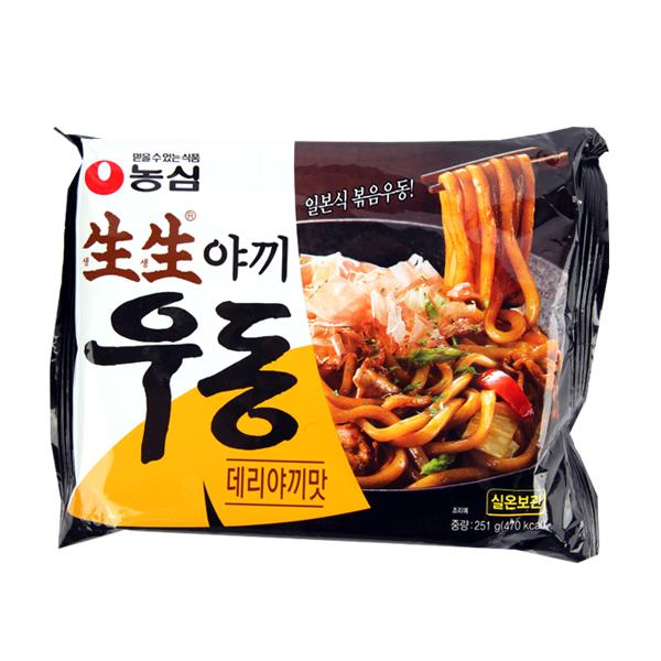 농심 생생우동 데리야끼맛251g이식사