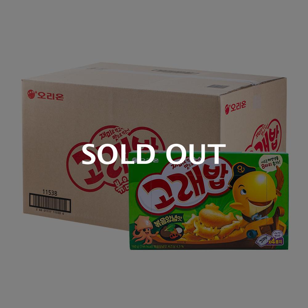 오리온 고래밥볶음양념맛 160g(12개) (박스)이식사