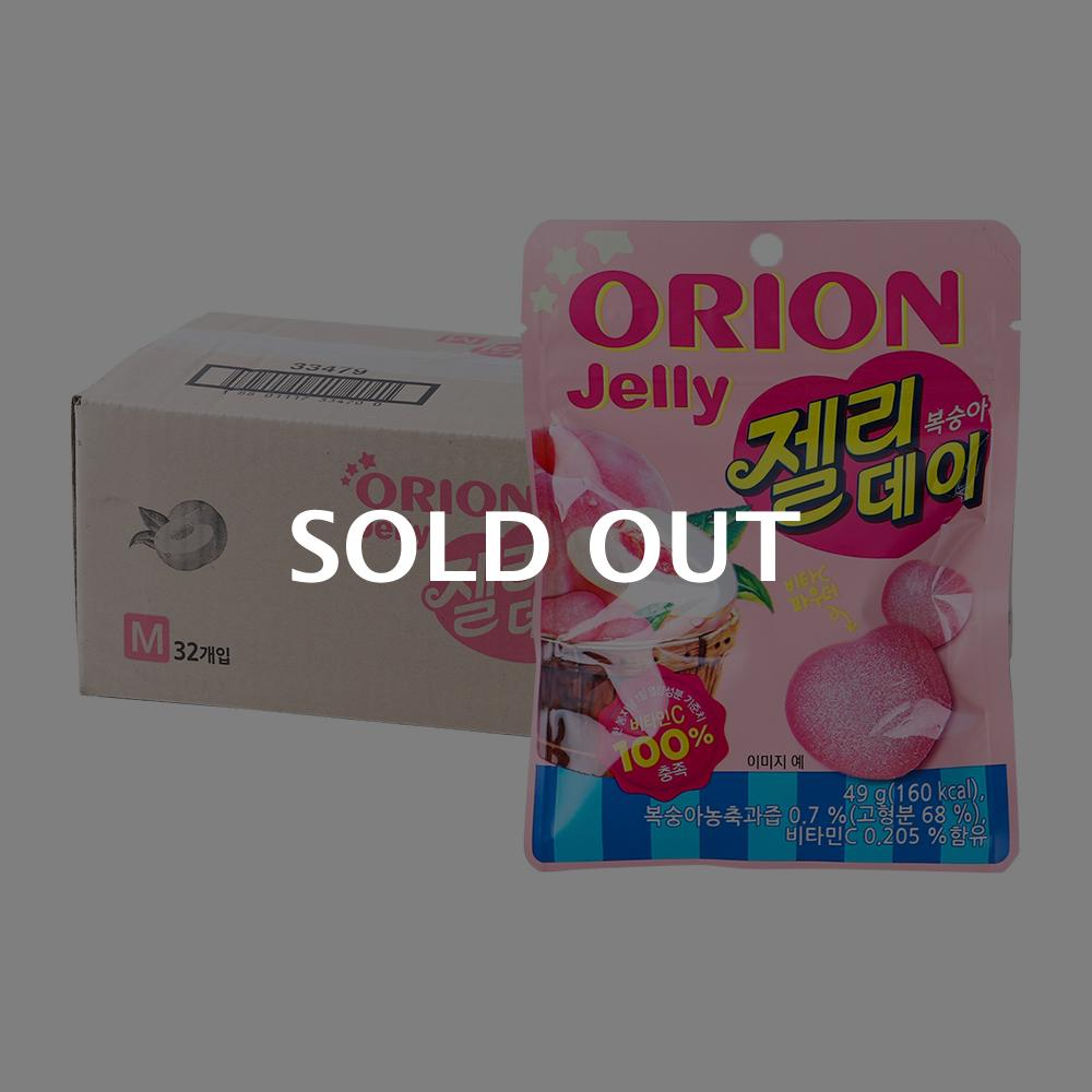 오리온 젤리데이복숭아 49g(32개)이식사