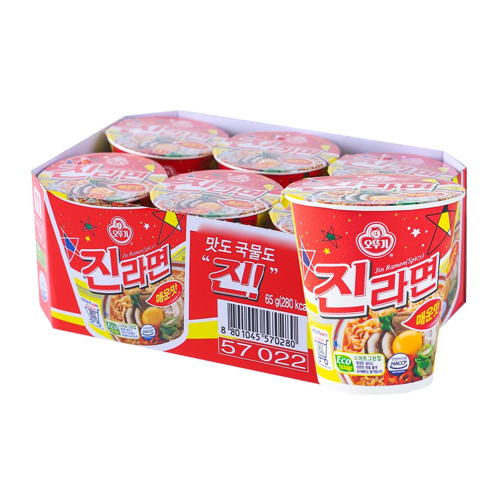 오뚜기 진라면소컵(매)65g 6입이식사