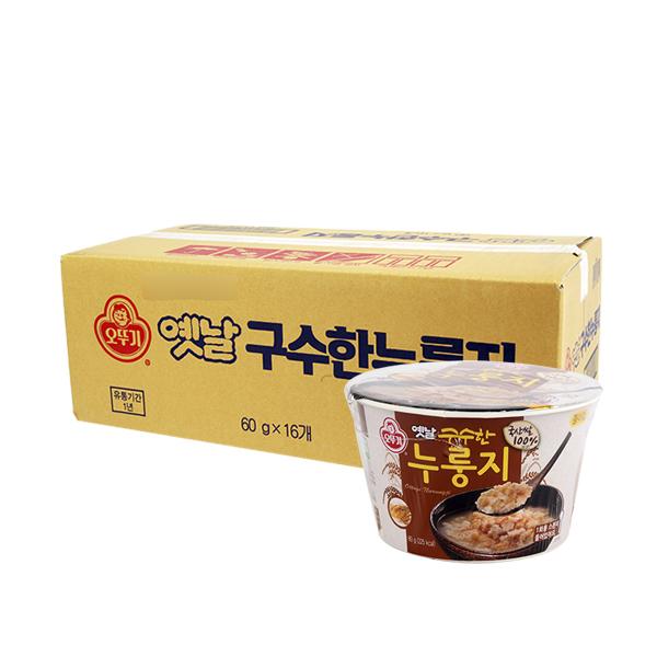 오뚜기 누룽지 용기60g(16개)이식사