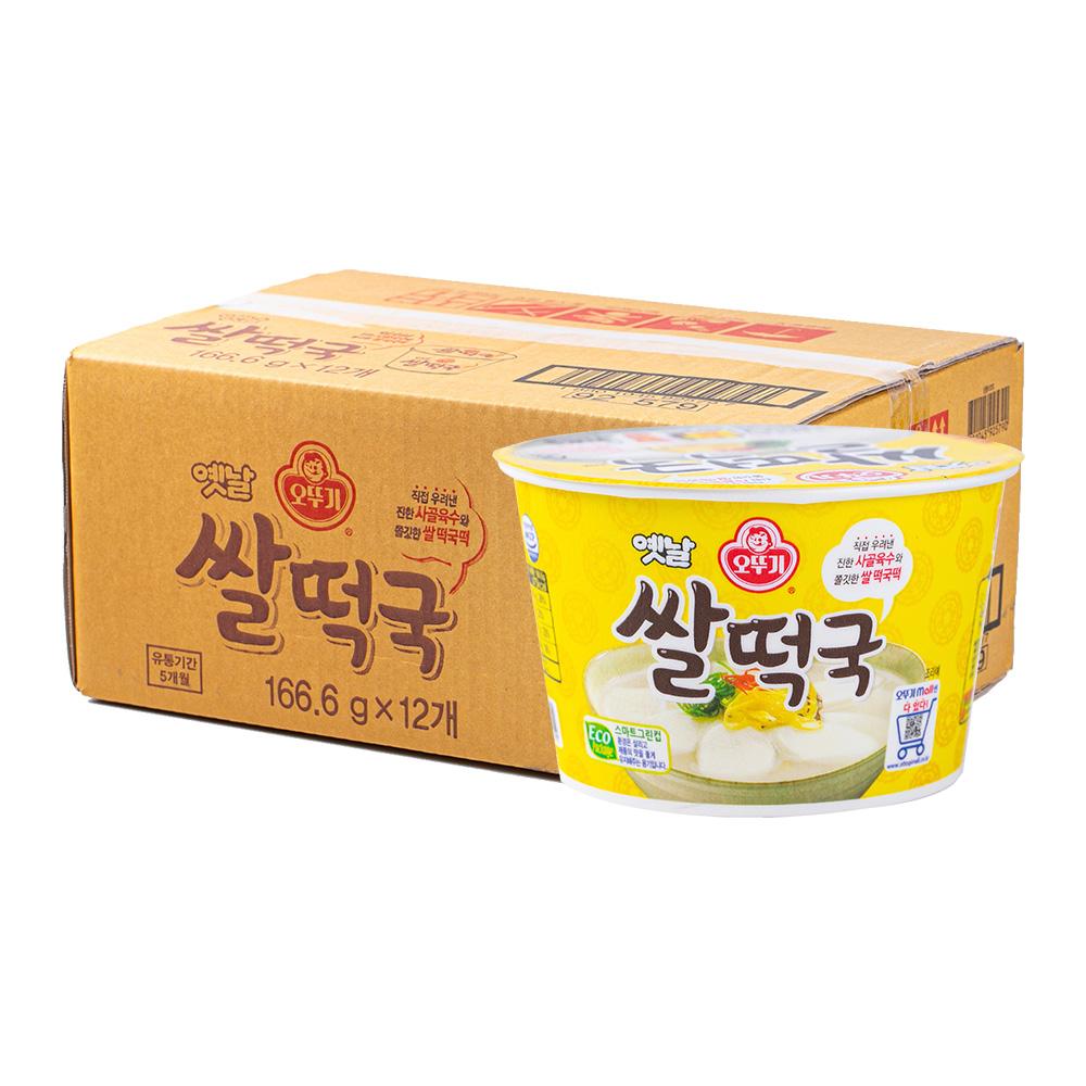 오뚜기 쌀떡국큰컵181.6g(12개)이식사