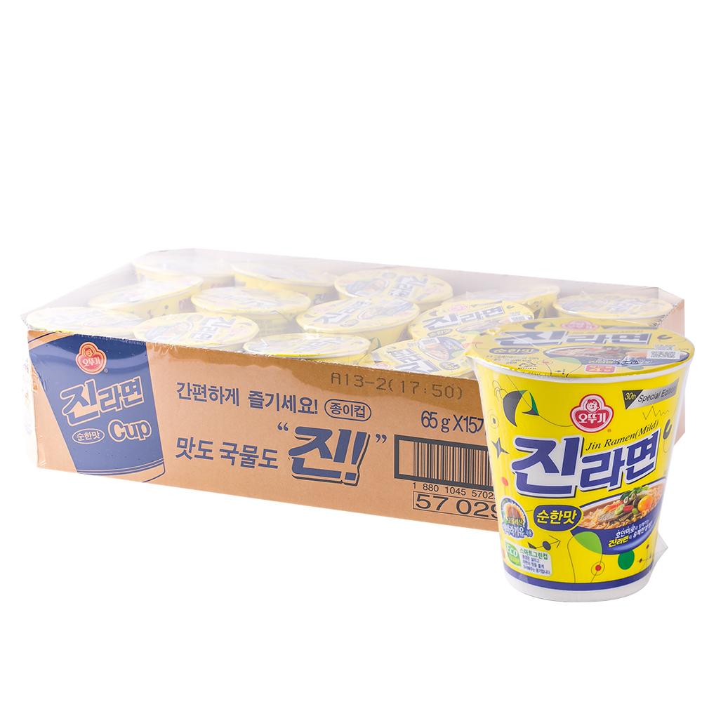 오뚜기 진라면소컵(순)65g(15개)이식사
