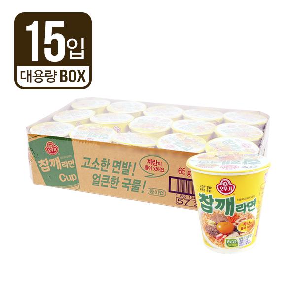 오뚜기 참깨라면소컵65g(15개)이식사