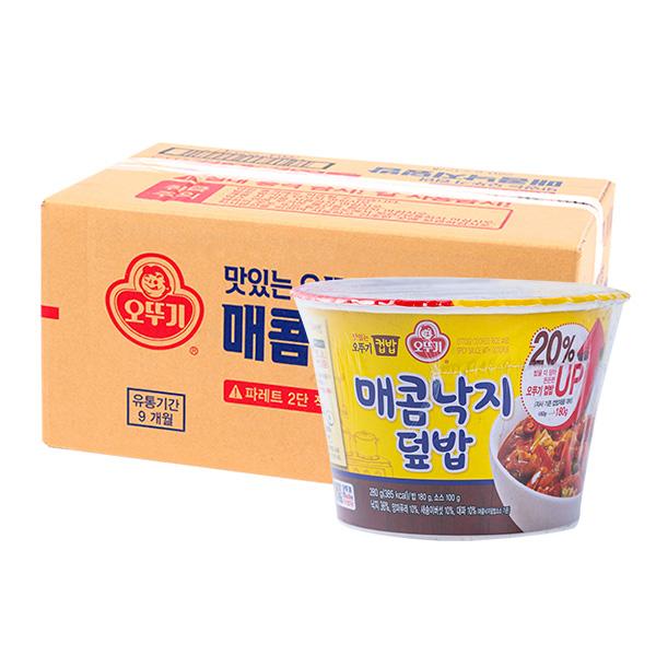 오뚜기 컵밥 매콤낙지덮밥 250g 12입이식사