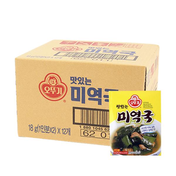 오뚜기 미역국18g(12개)이식사