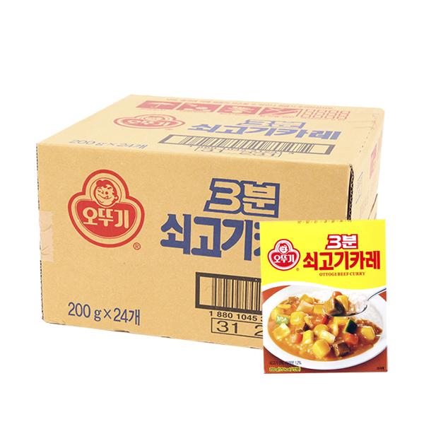 오뚜기 3분쇠고기카레200g(24개)이식사
