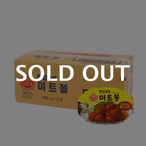 오뚜기 미트볼렌지용180g(12개)이식사