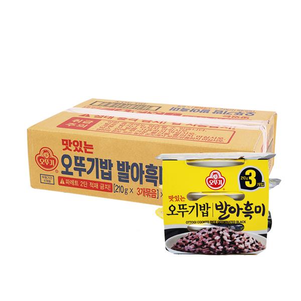 오뚜기 발아흑미밥210g 3입(6개)이식사