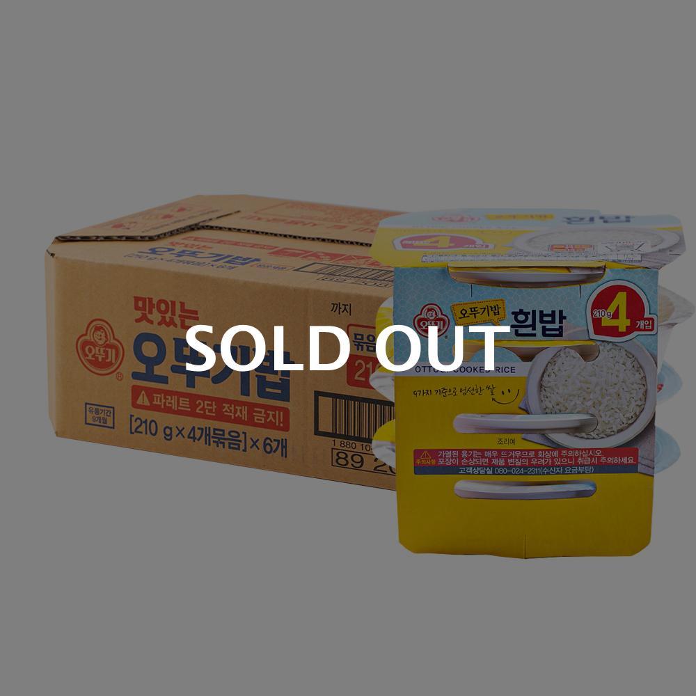 오뚜기 오뚜기밥 210g 4번들 6입이식사
