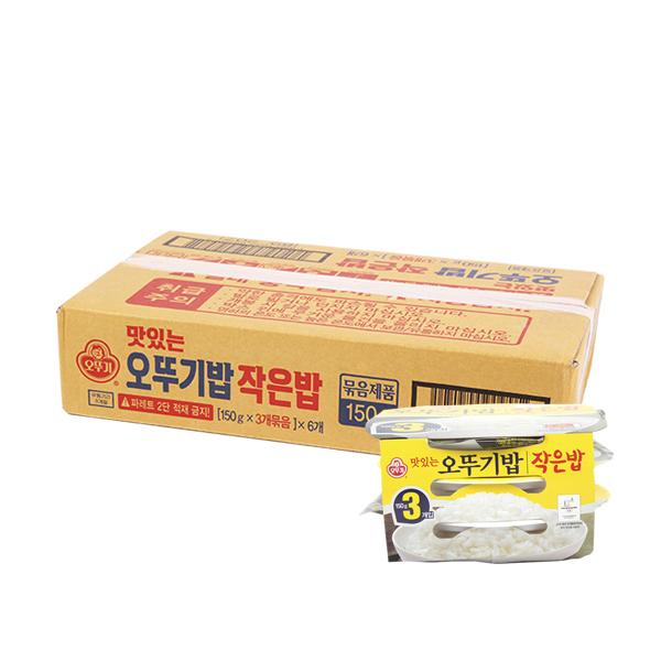 오뚜기 작은밥 150g 3번들 6입 (박스)이식사