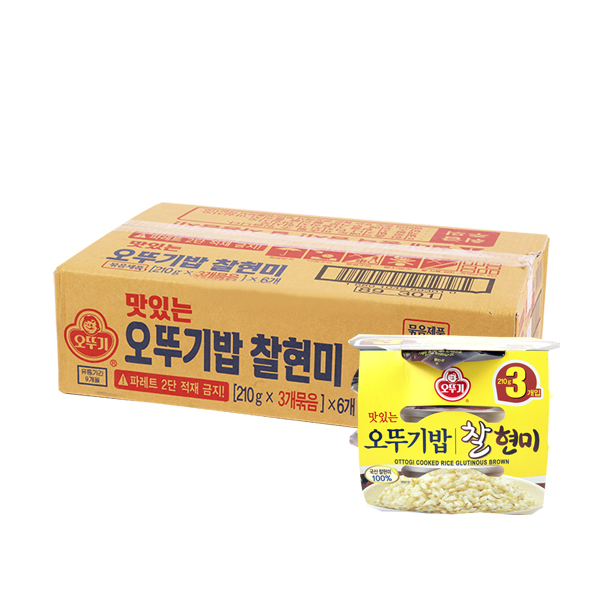 오뚜기 찰현미밥210g 3입(6개)이식사