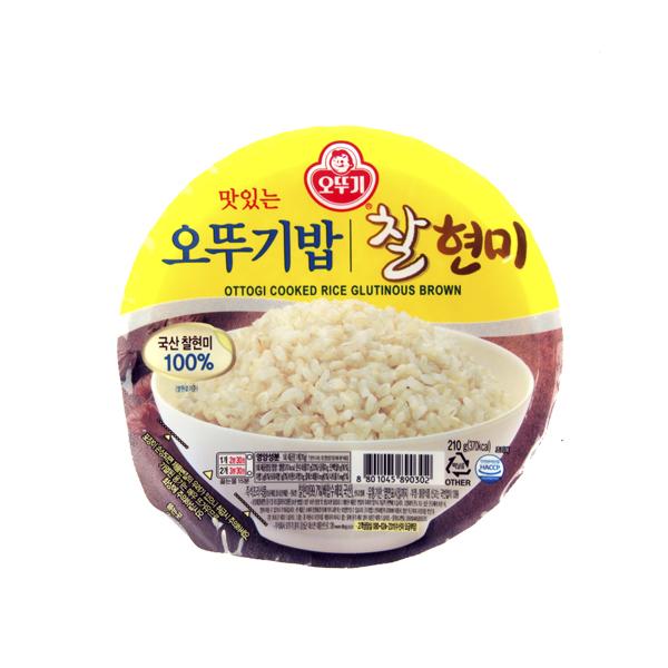오뚜기 찰현미밥210g이식사