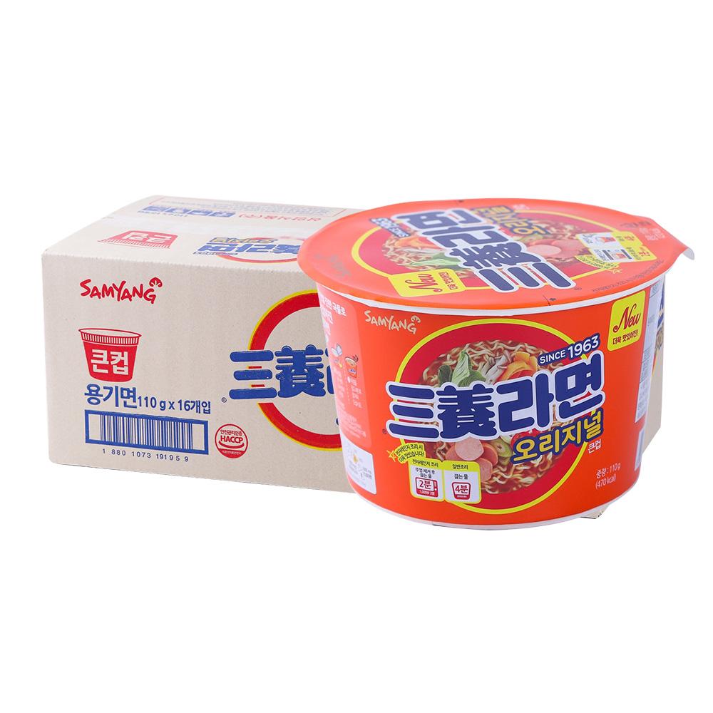 삼양 삼양라면큰컵115g(16개)이식사