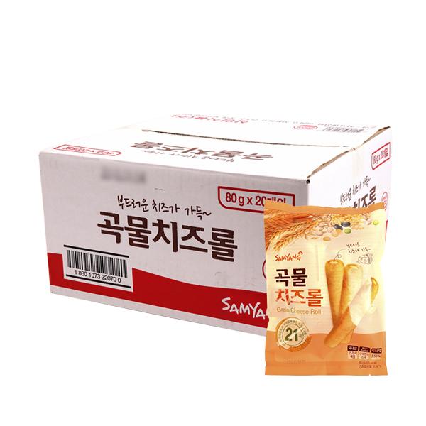 삼양 곡물치즈롤 80g(20개)이식사